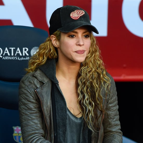 Shakira Cheers On Gerard Pique With Milan and Sasha