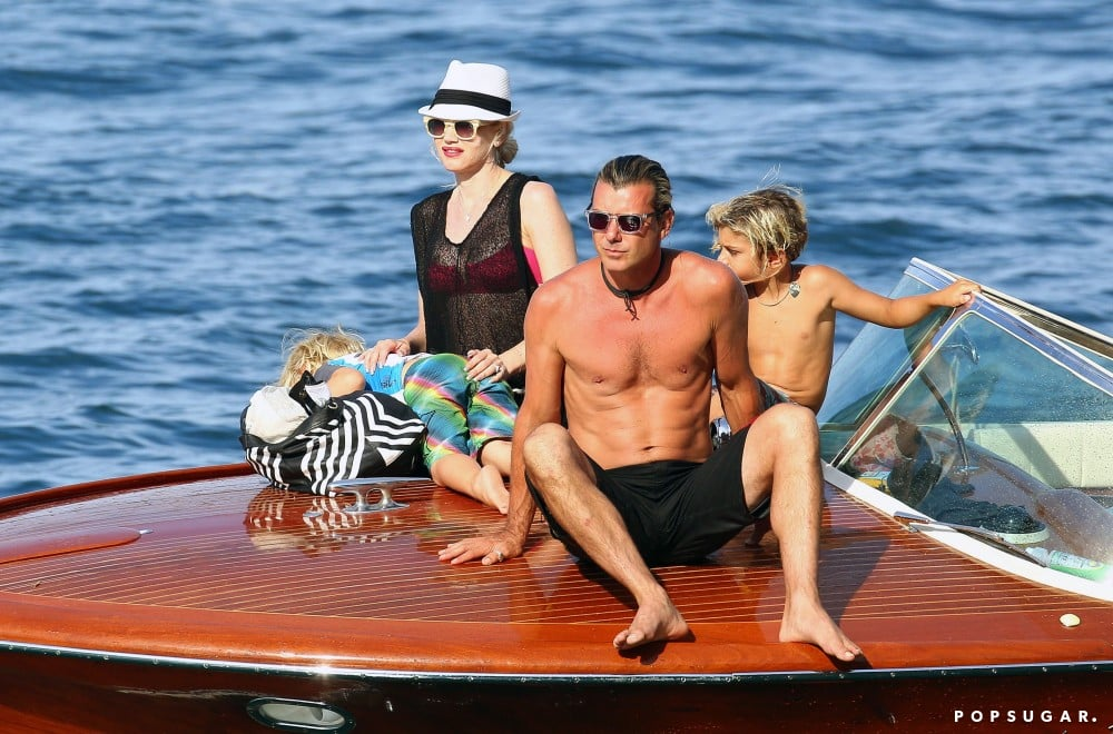 Gwen Stefani and Gavin Rossdale took their boys, Kingston and Zuma, on a family boat ride during a getaway to the South of France.