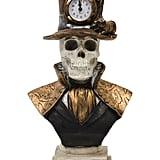 Resin Skull With Clock