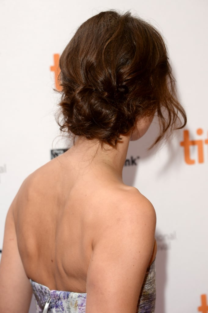 While walking the Can a Song Save Your Life? red carpet, Keira Knightley donned this fresh, twisted bun.