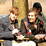 During a break from production, Chace Crawford and Ed Westwick grabbed a bite to eat in March 2008.