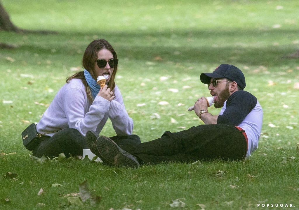 See Photos From Chris Evans and Lily James's Ice Cream Date