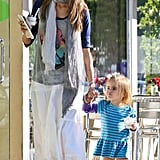 Alessandra Ambrosio Picks Up a Cool Treat With Her Hot Fiancé and Adorable Daughter