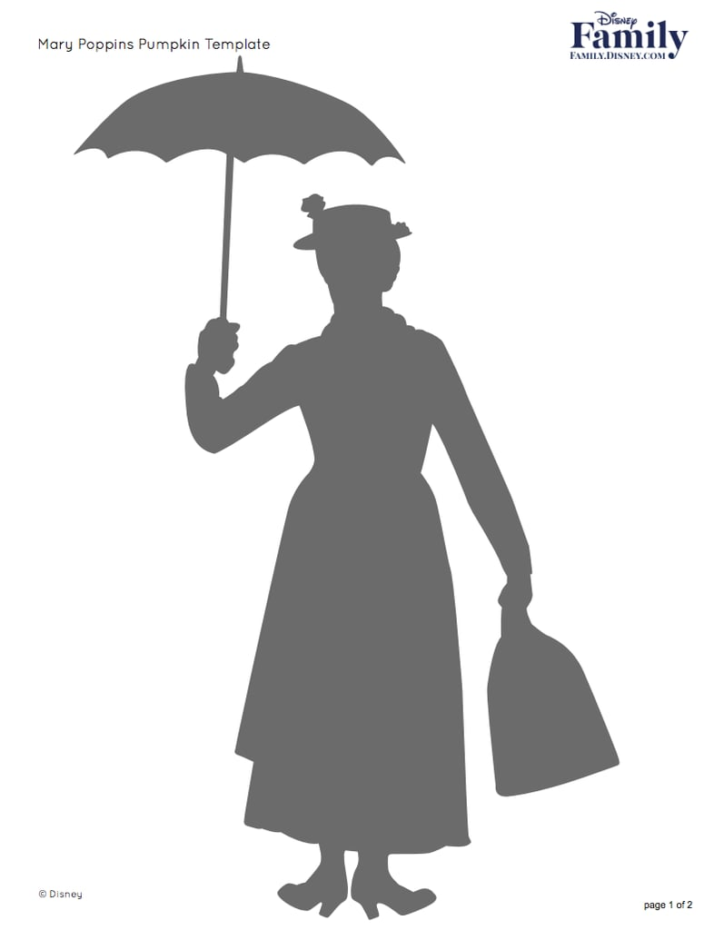 Mary Poppins | Free Disney Pumpkin Stencils | POPSUGAR Smart Living ...