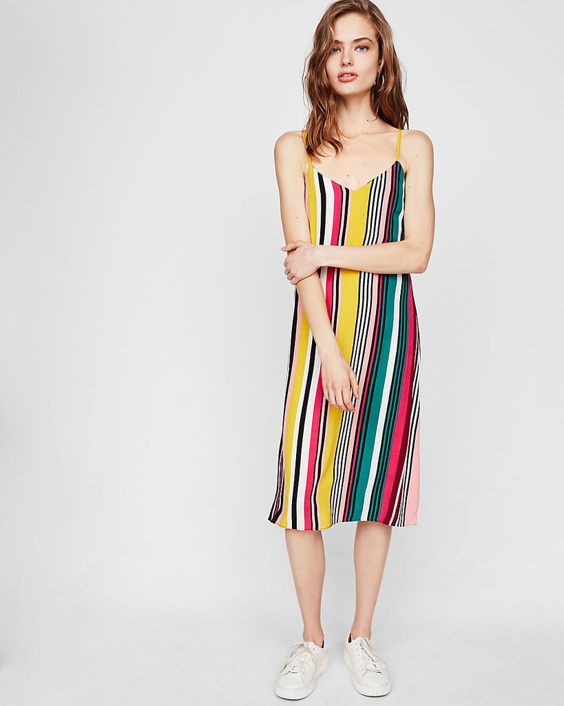 Express Multicolor Midi Slip Dress