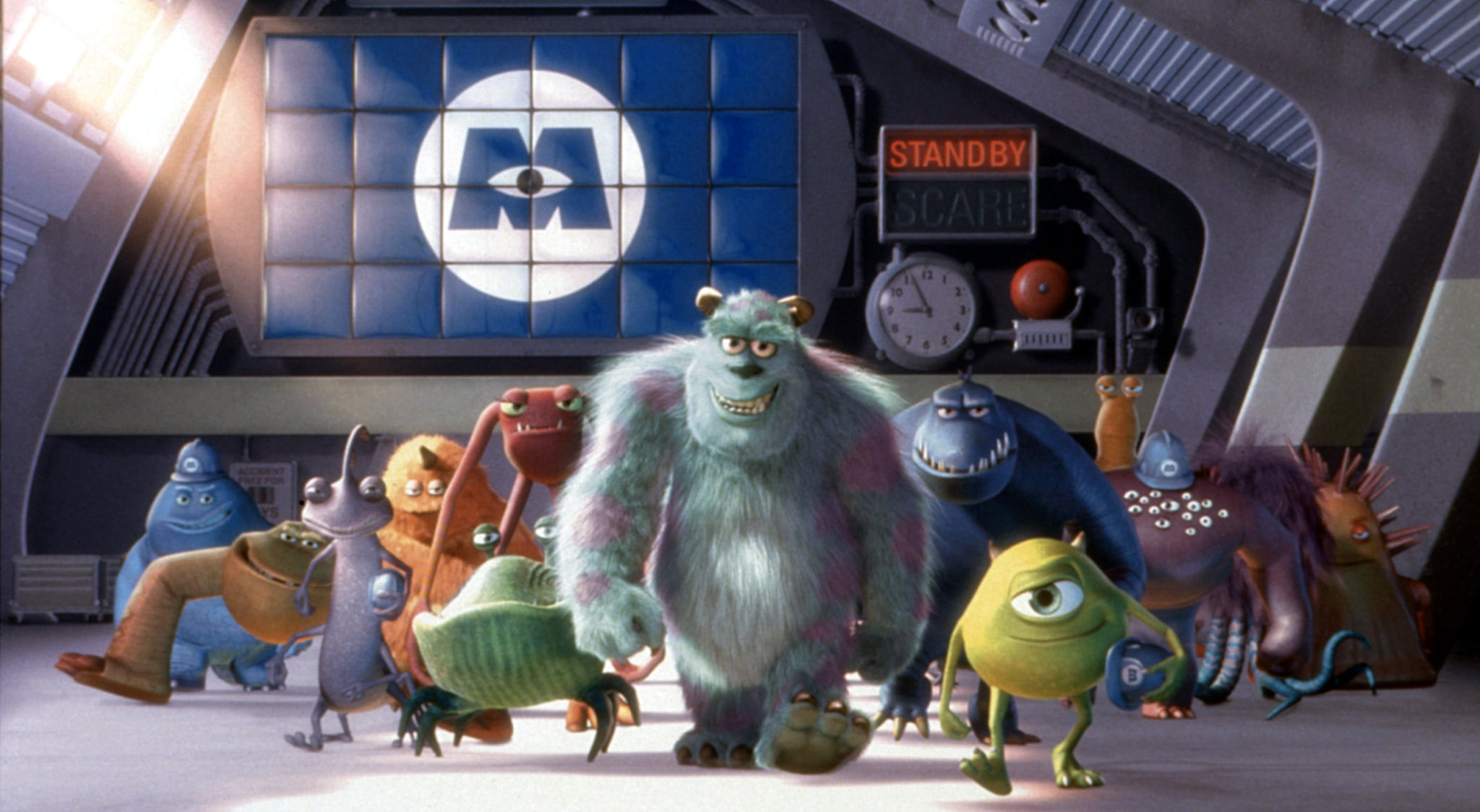 MONSTERS INC., Randall Boggs, Sulley, Mike Wazowski, 2001, (c) Buena Vista/courtesy Everett Collection