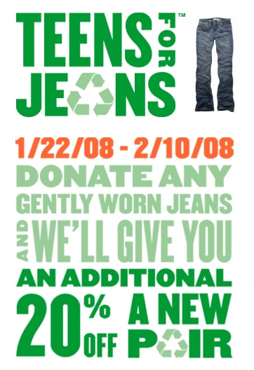 On Our Radar: Aéropostale's Teens For Jeans Drive