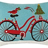 Christmas Bike Pillow ($30, originally $63)