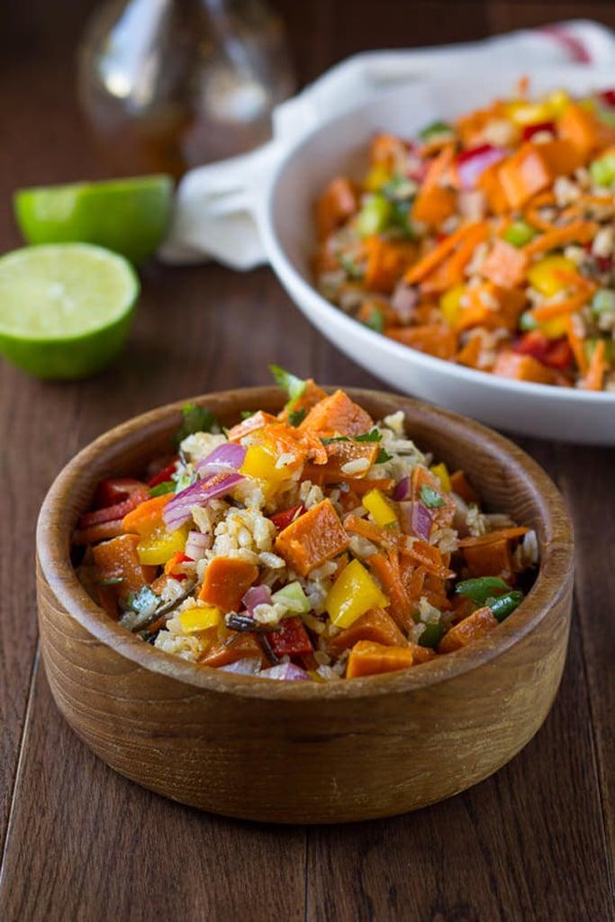 Roasted Sweet Potato and Wild Rice Salad With Chili-Lime Vinaigrette