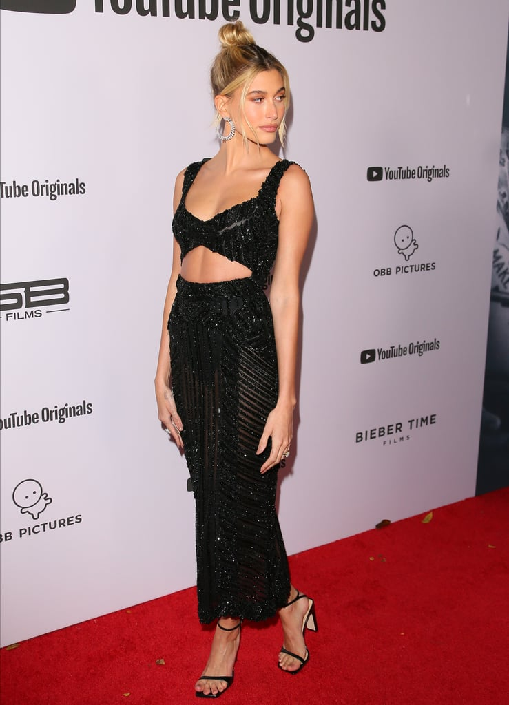 Hailey Bieber's Black Zuhair Murad Dress 2020
