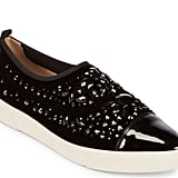 In sleek patent leather, these Karl Lagerfeld Paris Arden Embellished Slip-On Sneakers ($139) have the comfort of a tennis shoe and the polish of a loafer.