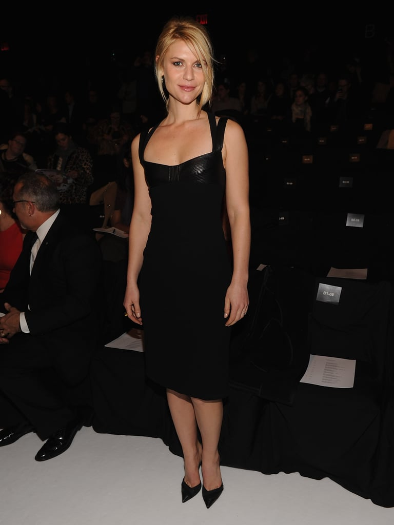 Claire smoldered in a body-con Narciso Rodriguez dress at the designer's Fall 2012 runway show in NYC.