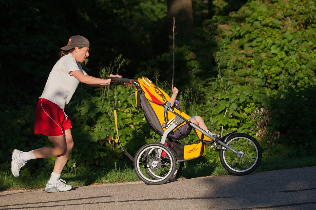 First time you take your baby on a jog.
