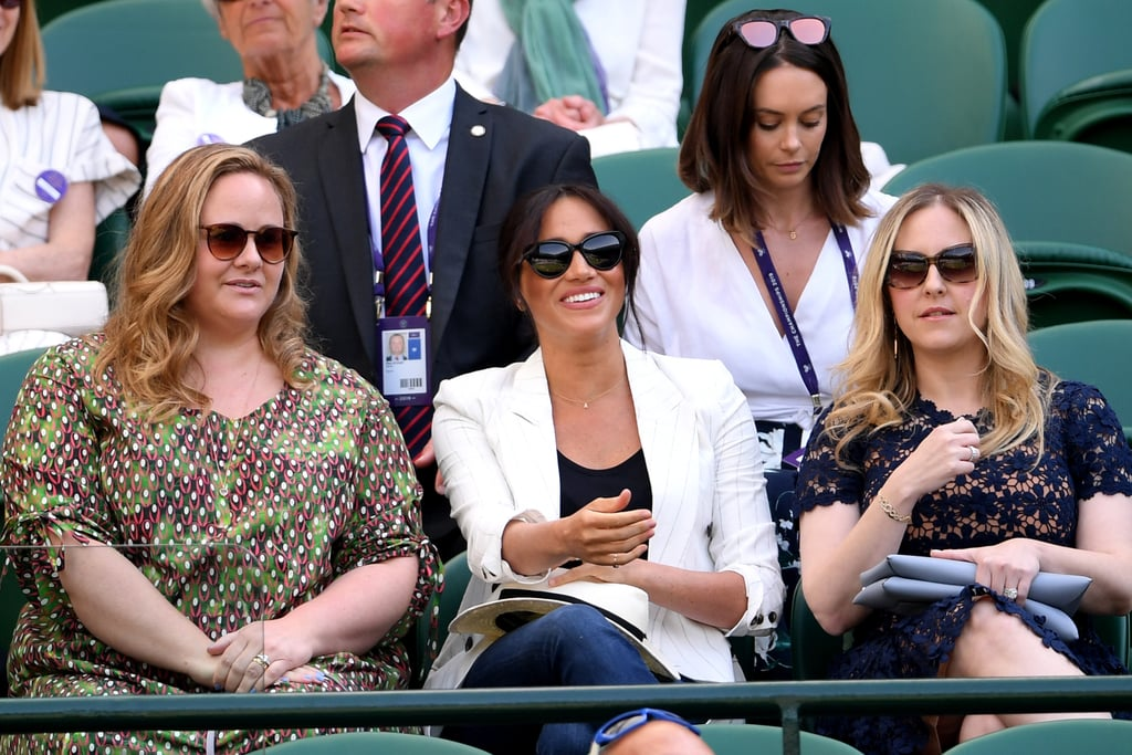 Meghan Markle Takes a Break From Mom Duty to Cheer on Serena Williams at Wimbledon