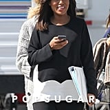 Kerry Washington Gets Totally Out of Character on the Scandal Set