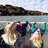 Jessica Simpson's kiddos, Maxwell and Ace, had some fun boating on Lake Austin.