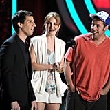 Leighton Meester, Adam Sandler and Andy Samberg entertained the audience.