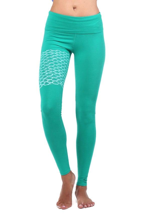 038b50e8dca5d Green Mermaid Yoga Pants   Mermaid Workout Clothes   POPSUGAR ...