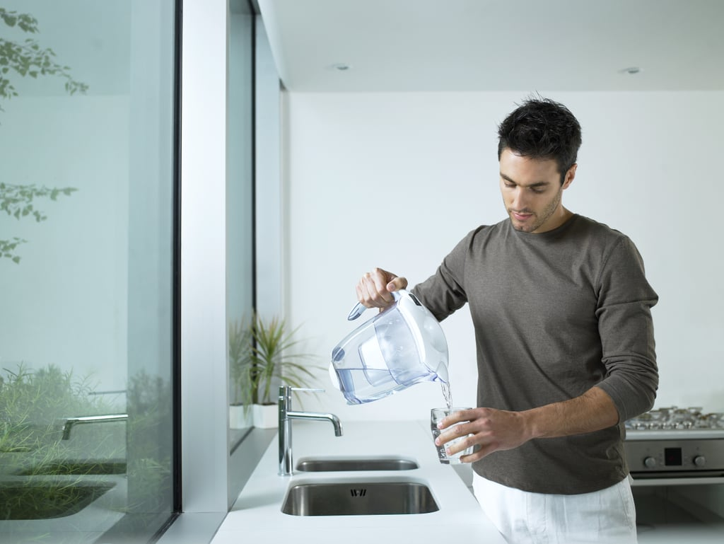 Ditch bottled water and get a Brita filter ($20).