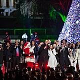 President Obama Last White House Tree Lighting Photos 2016