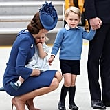Kate Speaking to George and Charlotte, 2016