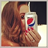 Sofia Vergara matched her manicure to her Pepsi can. Source: Sofia Vergara on WhoSay