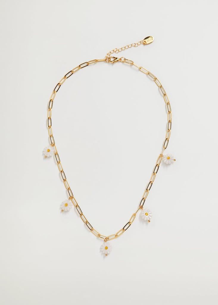 Mango Flower Link Necklace