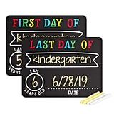 First and Last Day of School Photo Chalkboard Signs