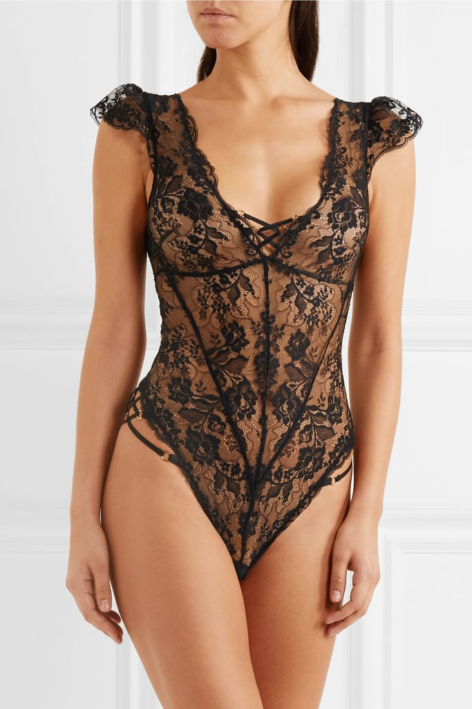 Agent Provocateur Essie Leavers Lace Bodysuit