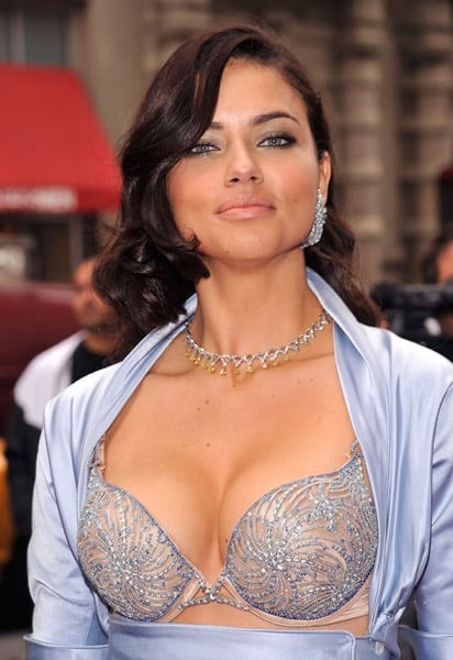 Adriana Lima Looks Hot in $2 Million Victoria's Secret Bombshell Bra in NYC