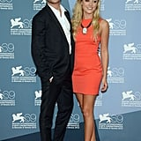 Zac Efron posed with Maika Monroe at the At Any Price photocall at the Venice Film Festival.