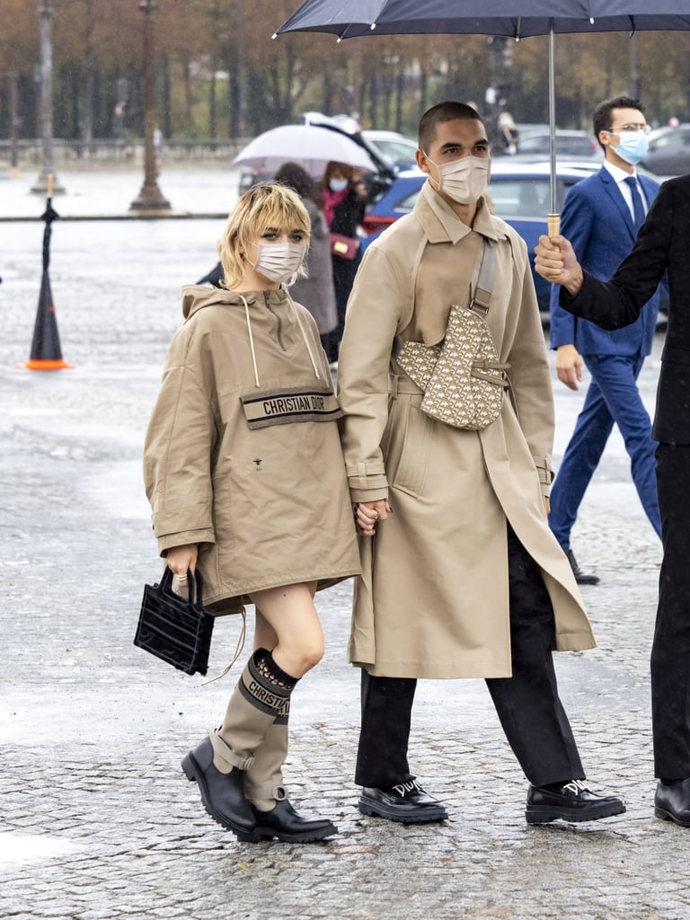 Maisie Williams and Reuben Selby's Dior Fashion Week Outfits