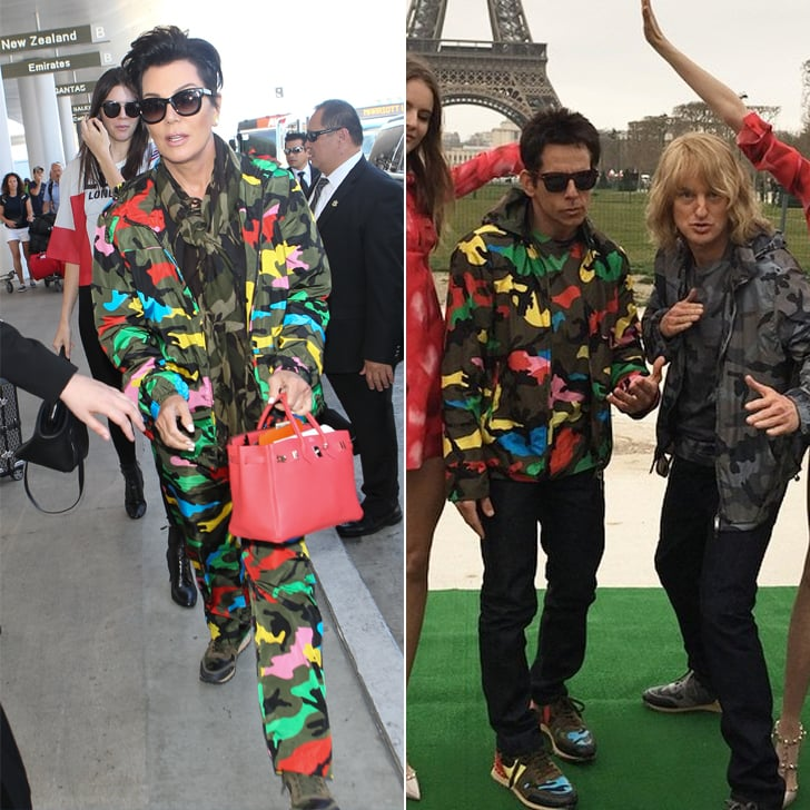 Who Wore the Valentino Camouflage Look Better?