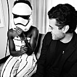 """Oscar Isaac witnessing The Transformation. #TheThunderEffect #Thunder #theforceawakens @starwars #oscarisaac (Photo: @rscapellan)"""