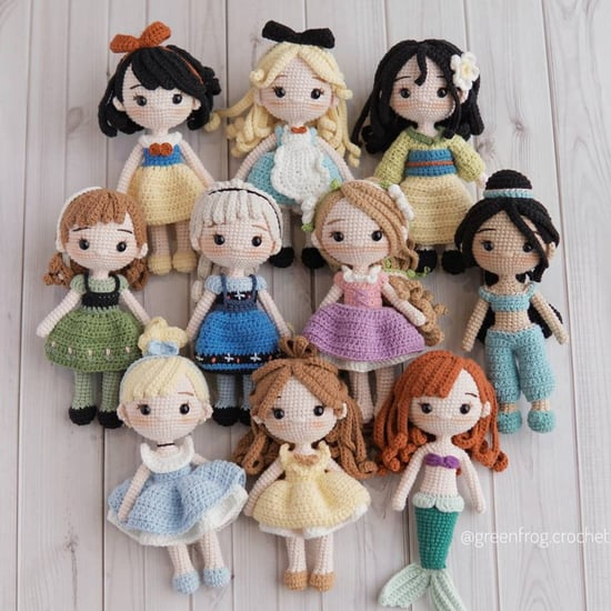 Shop Disney Princess Crocheted Doll Patterns on Etsy