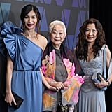 Gemma Chan, Lisa Lu, and Michelle Yeoh