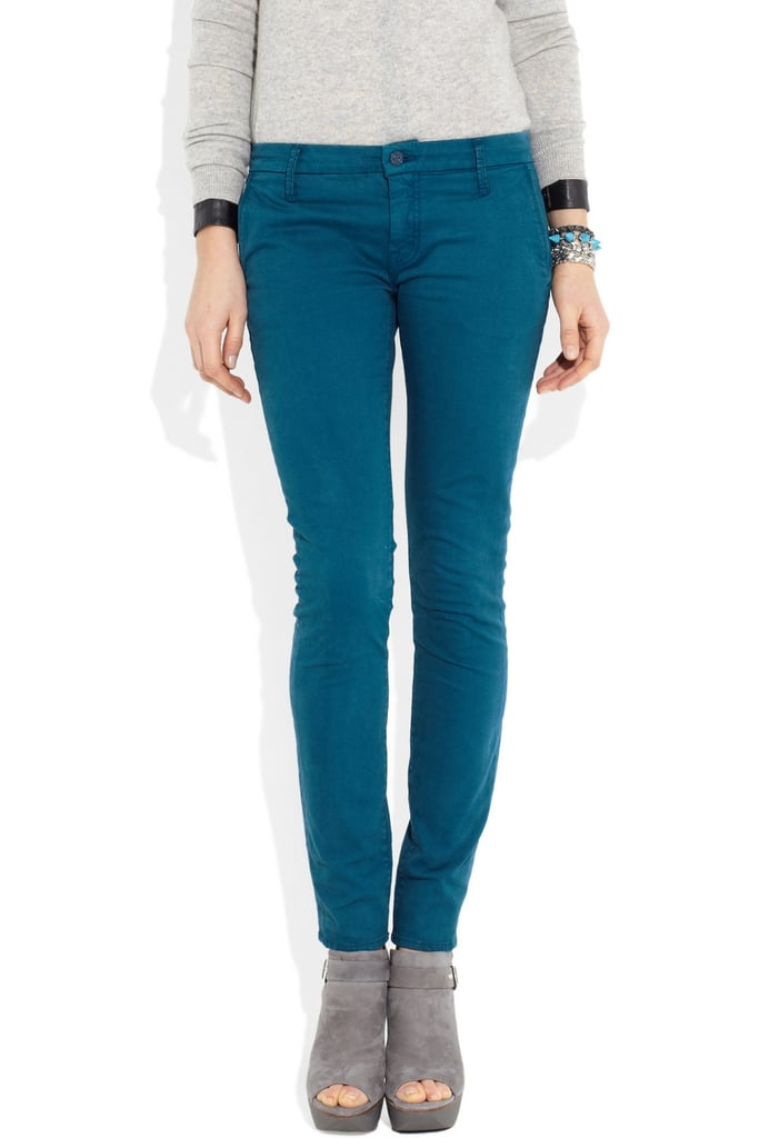 MOTHER Denim Skinny Blue Twill Pants in The Looker ($185)