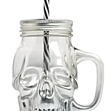 Skull-Shaped Glass Jar With Straw ($4)