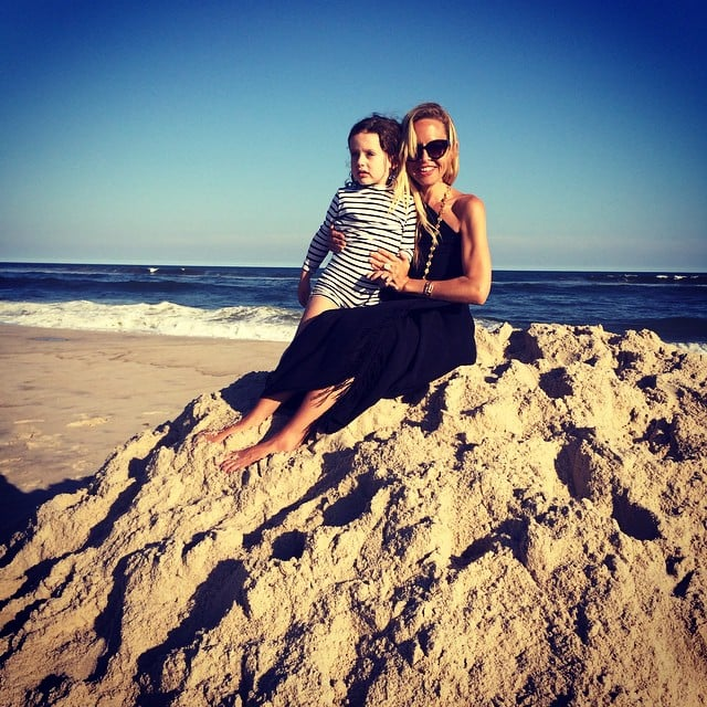 Rachel Zoe and Skyler Berman caught the afternoon light on the beach in the Hamptons, NY.