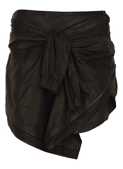 Jacket-Effect Leather Skirt, approx $2,534, Proenza ...