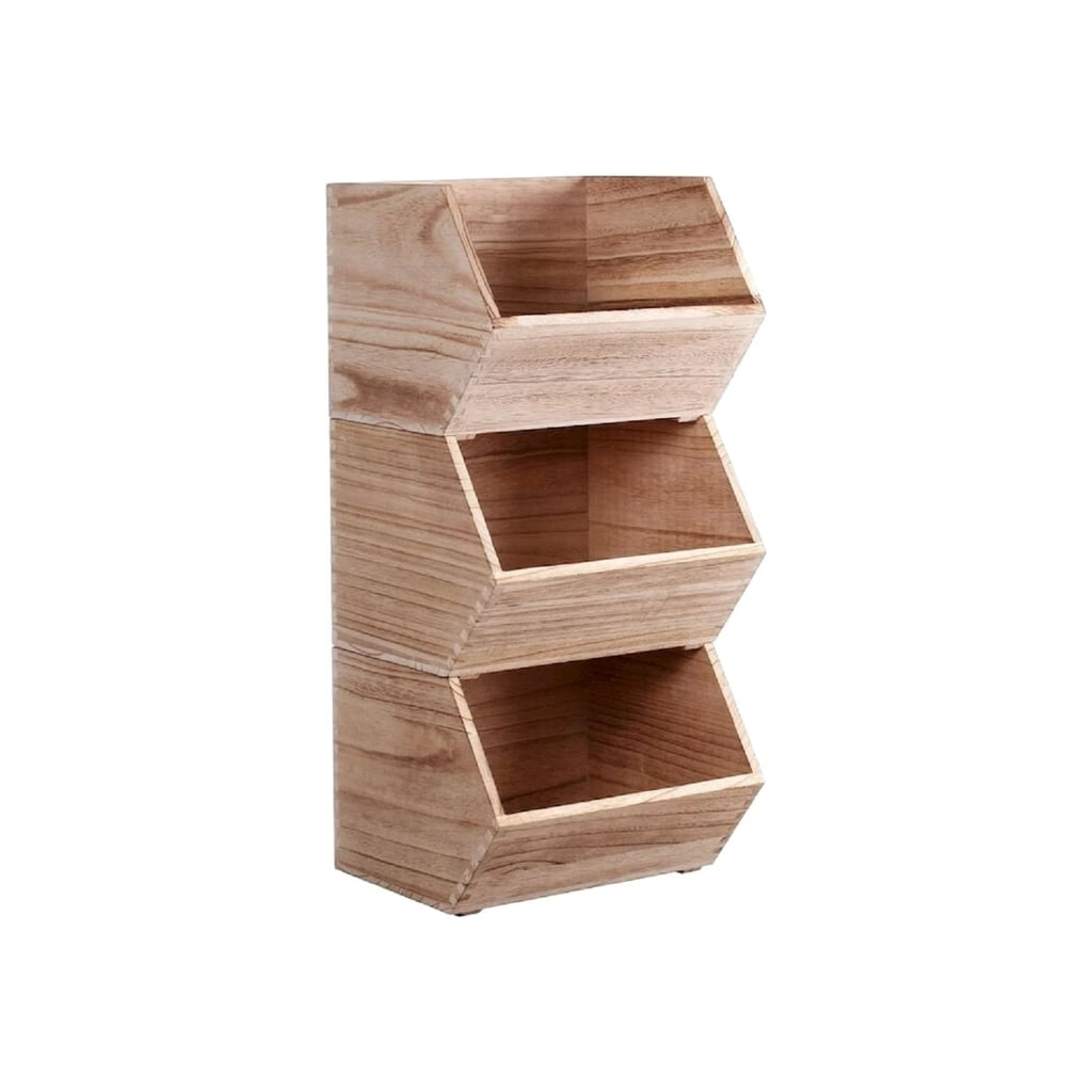 Pillowfort Stackable Wood Toy Storage Bin