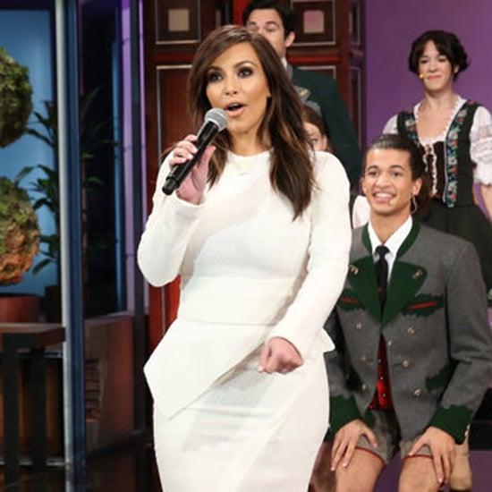 Kim Kardashian Singing For Jay Leno's Last Show | Video