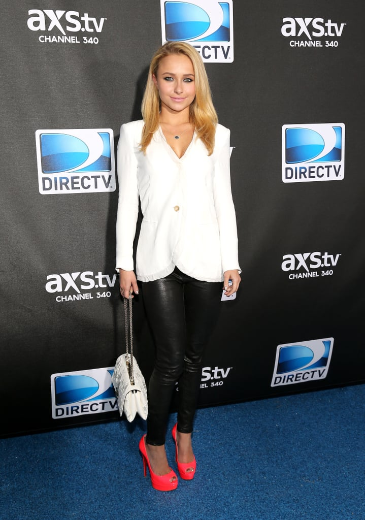 Hayden Panettiere attended DIRECTV's Super Saturday Night event and watched Justin Timberlake's special performance before Super Bowl Sunday.