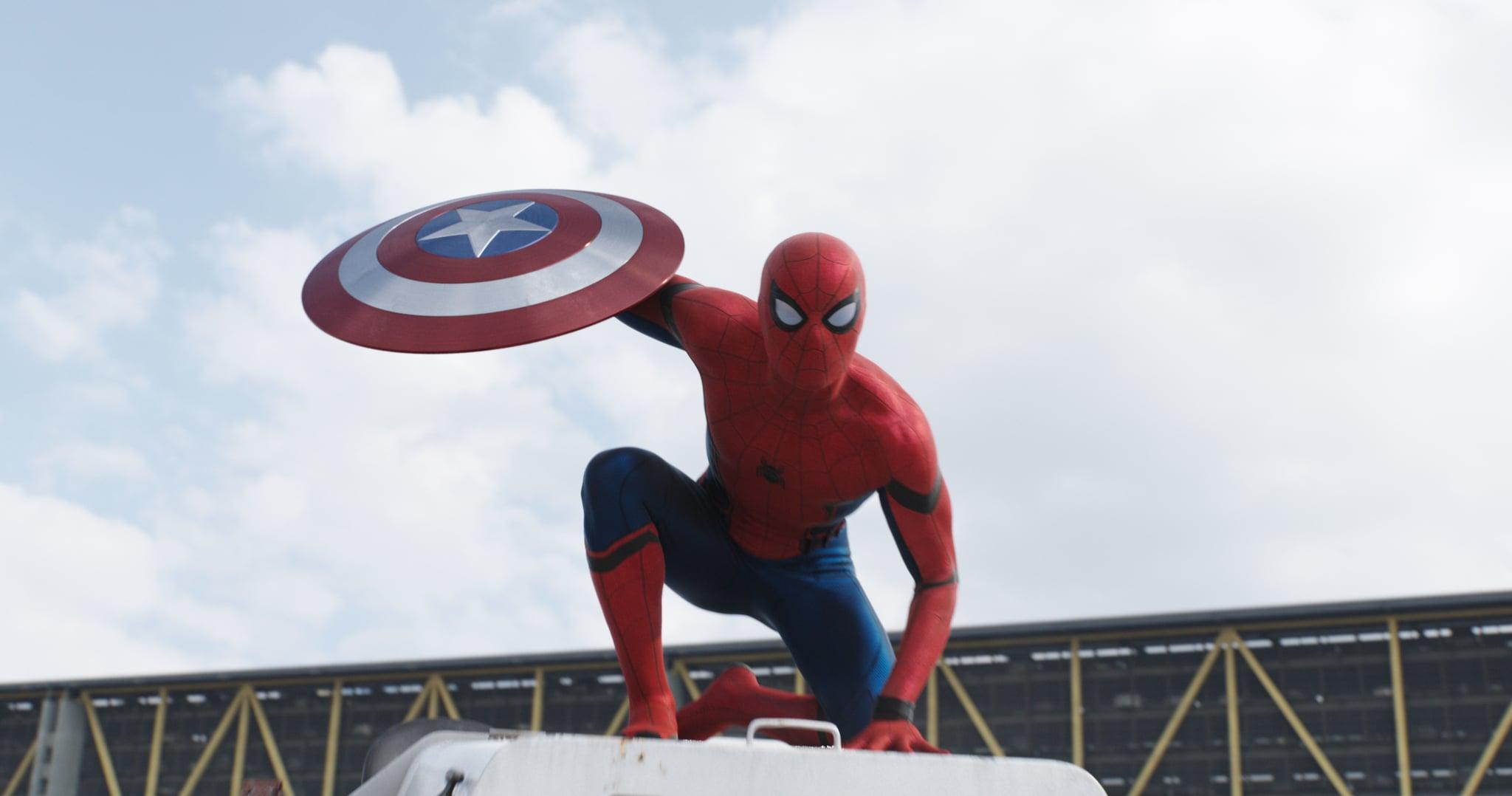 Spider-Man\'s Song in Captain America: Civil War   POPSUGAR Entertainment