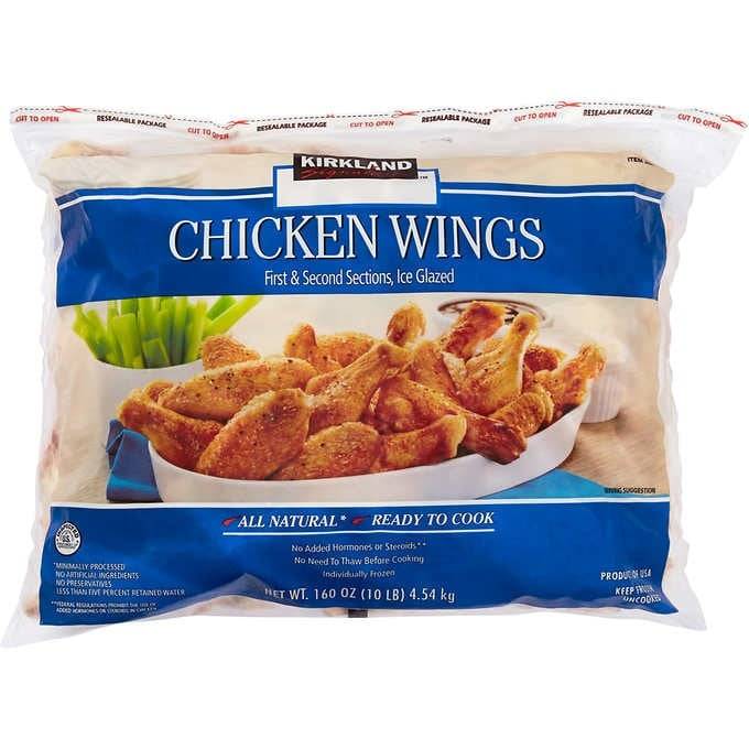 Costco 10 Pound Bag of Wings