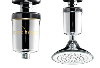 Raindrops Water Filtration Shower Head Blond Hair Products