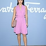 Camila Mendes at the Salvatore Ferragamo Milan Fashion Week Show