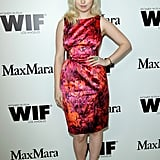 Francesca Eastwood was pretty in pink at the Max Mara cocktail party.