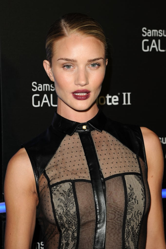 Rosie Huntington-Whiteley partied at the Galaxy Note II event.