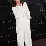 Noomi Rapace wore a white pantsuit to the Prometheus premiere in Paris.